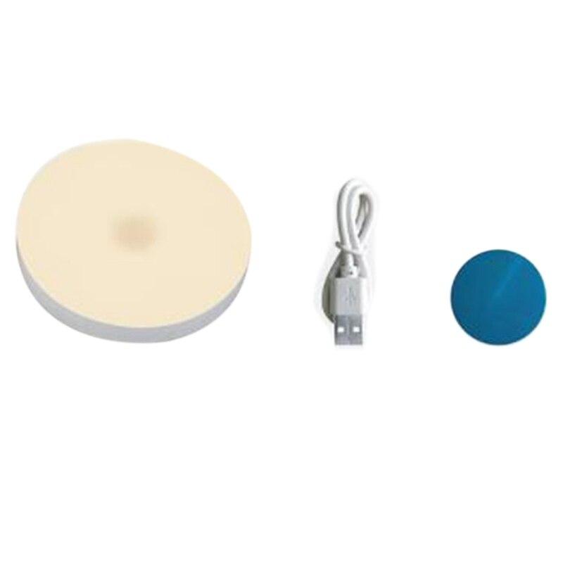 Usb-Charging Lamp Led Press Night Light Bedside Baby Breastfeeding Toilet Bedroom Door Motion Sensor Rechargeable Wireless Mini