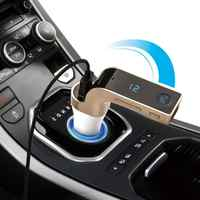 G7 Car Memory Hands-free LCD display 4-in-1 Bluetooth FM Transmitter AUX Modulator Car Kit MP3 Player 2.1A point smoke hole