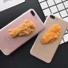 3D Simulation Funny Delicious Food Chicken Phone Cases Cover For