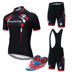 2019 Pro UCI Team Cycling Jersey KUOTA Cycling Set 9D Gel Short Sleeve Racing MTB Suit Maillot Bike Clothing Ropa Ciclismo