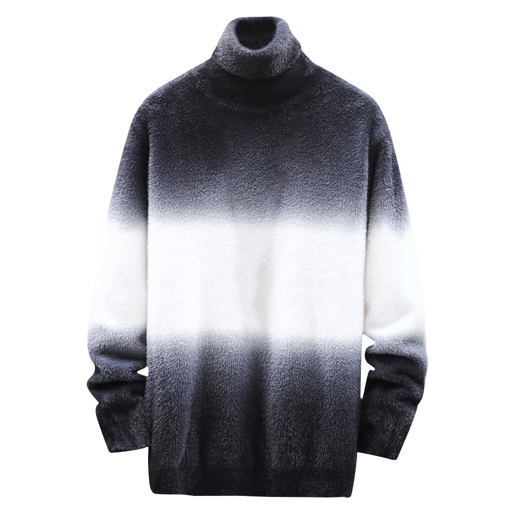 Sweater Men's Tie Dyeing Autumn Winter Casual Long Sleeve Knitting Sweaters Tops Blouse Men Pullover Keep Warm  Blouse Sports