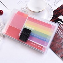 Plastic A6 Rainbow Document/file Folder/organizer/bag/case For Documents/exam Paper/file 13 Pockets Extension Wallet Bill(China)