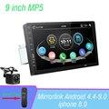 Автомагнитола с сенсорным экраном 9 дюймов, MP5-плеер с поддержкой Mirrorlink, с камерой заднего вида, Bluetooth, USB, Типоразмер 1DIN