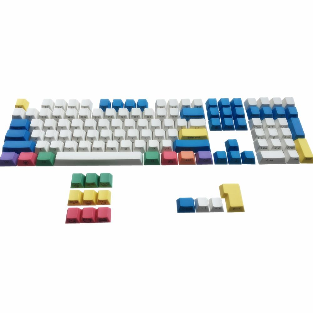 PBT <font><b>Keycaps</b></font> Chalk Keyset ANSI/ISO Side Printed Cherry MX Cap For <font><b>60</b></font>%/TKL 87/104/108 MX Mechanical <font><b>Keyboard</b></font> Fit Anne Akko X Ducky image