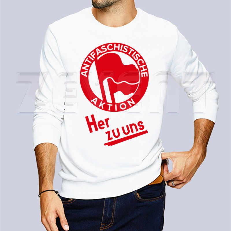Antifa anarquia antifascista anarquista nova moda hoodie streetwear hip hop com capuz com capuz impressão dos homens hoodies e camisolas