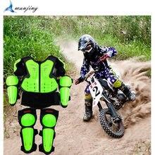 Gilet de protection du corps pour jeunes enfants, équipement de sport, armure ATV, combinaison de vélo de saleté, poitrine, colonne vertébrale, genou, coude