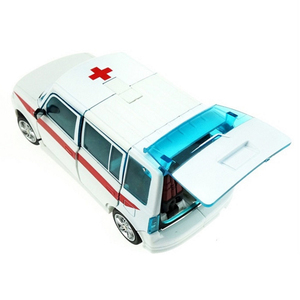 Image 5 - Ambulance Transformer Rescue Pioneer Alteration Simulation Car Robot Toy
