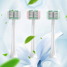 2 Pcs/Bag 3 Sided Toothbrush Heads Fully Wrapped Brush Replacement Heads Fit for Adults High Frequency Sonic Electric Toothbrush