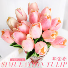 10 Pcs Artificial Flowers Tulips Calla Lily Set Simulation PU Fake Flower Wedding Decoration Party New Year Hotel Home Decor