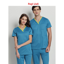 Surgical clothes mens and womens short-sleeved hand-washing doctors suit nurses brush hand work