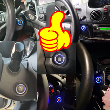 Kirbin 12v sistema de ignição do carro com botão de parada partida sistema de alarme do carro bloqueio central módulo bluetooth sistema inteligente