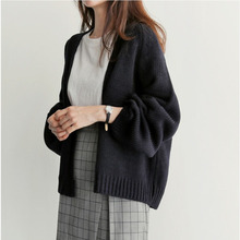 Women's Autumn Loose Short Knit Cardigan Sweater Jacket Sweaters Cardigans Cropped Cardigan Long Cardigan Oversized Cardigan drop shoulder oversized hoodie cardigan