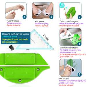 Image 4 - Magnetic Window Brush Glass Cleaner Brush Tool Window Wipe Double Side Magnetic Glass Brush for Washing Household Cleaning Tool