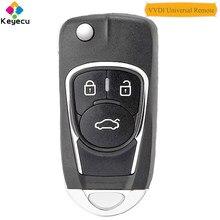 Keyecu xhorse universal (versão em inglês) chave remota universal com 3 botões-fob para vvdi ferramenta chave vvdi2, p/n: xkbu03en