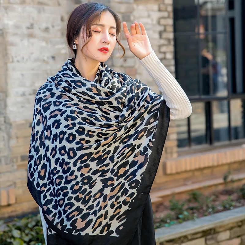 90 × 180 センチメートル女性ファッションブランドヒョウドットタッセルビスコースショールスカーフの女性のプリントソフトウォーマーラップ Pashminas イスラム教徒ヒジャーブスヌード