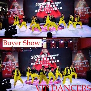 Image 5 - 어린이를위한 새로운 힙합 의류 무대 의상 거리 착용 어린이 재즈 댄스 의상 볼룸 댄스 성능 의류 DQS3065