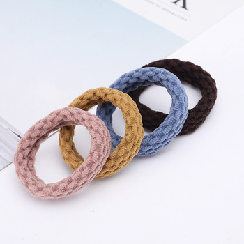 10PCS Women Girls Simple Basic Elastic Hair Bands Ties Scrunchie Ponytail Holder Rubber Bands Fashion Headband Hair Accessories 4