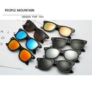 Image 5 - Gafas de sol con lentes de cristal para hombre y mujer, lentes de sol unisex con diseño Vintage, adecuadas para conducir, gafas para nadar reflectantes, cuadradas y elegantes
