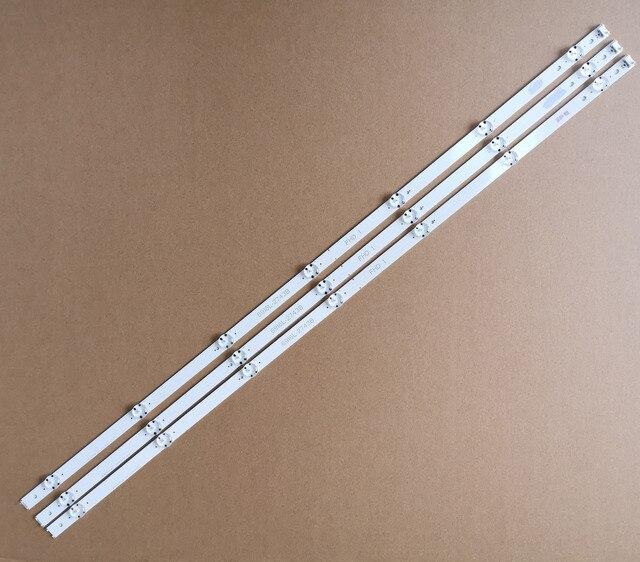 """3 Chiếc 842 Mm 7 Đèn LED Mới Ban Đầu Dây Đèn LED Tương Thích Hoàn Hảo Cho LG 43 """"V16 ART3 V16.5 ART3 6916L2550A 6916L 2743B E71222c102401"""