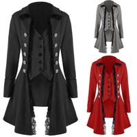 Halloween Costumes for Women Medieval Viking Costume Lace Jacket Coat Trim Tops Comic con Victorian Gothic Female Clothing
