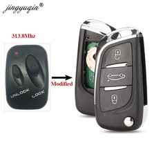 Jingyuqin 313,8 Mhz 2 botones modificado remoto coche llave Fob para SsangYong completo Control Key
