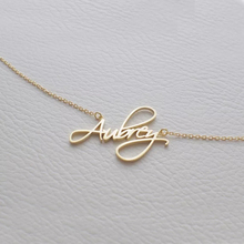 Personalized Name Necklaces Pendents Collares Customized Cursive Font Nameplate Necklace Women Stainless Steel Chain Jewelry BFF