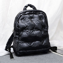 Trendy Backpack Korean Version Of Space Cotton Waterproof Warm Backpack Casual Solid Color Student Backpack Down Ladies Backpack