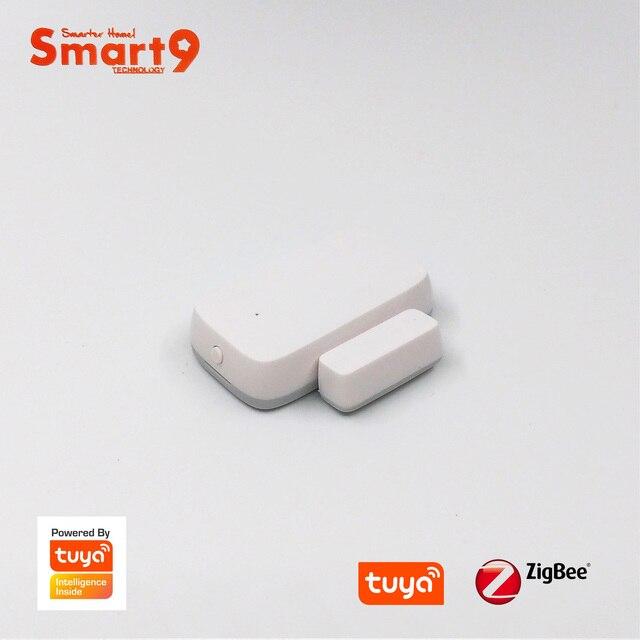 Smart9 ZigBee Tür Windows Kontaktieren Sensor, arbeits mit TuYa ZigBee Hub, Smart Leben App Fernbedienung, angetrieben durch TuYa