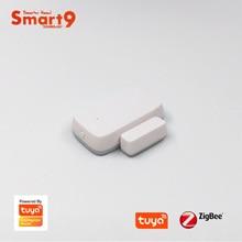 Датчик Контакта для окон и дверей Smart9 ZigBee, работает с TuYa ZigBee Hub, дистанционным управлением через приложение Smart Life, работает с TuYa