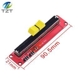 Линейный модуль 10K с выдвижным потенциометром, двойной выход для электронного блока Arduino AVR