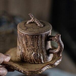 Творческий Набор чашек и блюдца для кофе, традиционный китайский набор чашек для чая и кофе, винтажное кафе, кухонные принадлежности Tazas ...