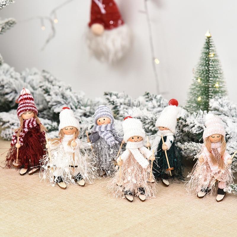 Navidad Ornaments Cute Angel Ski Dolls Pendant 2021 New Year Gifts for Kids Christmas Tree Decoration Xmas Noel Natal Home Decor