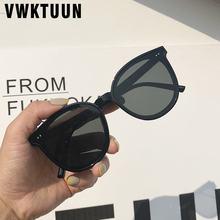 Круглые Солнцезащитные очки vwktuun женские классические черные