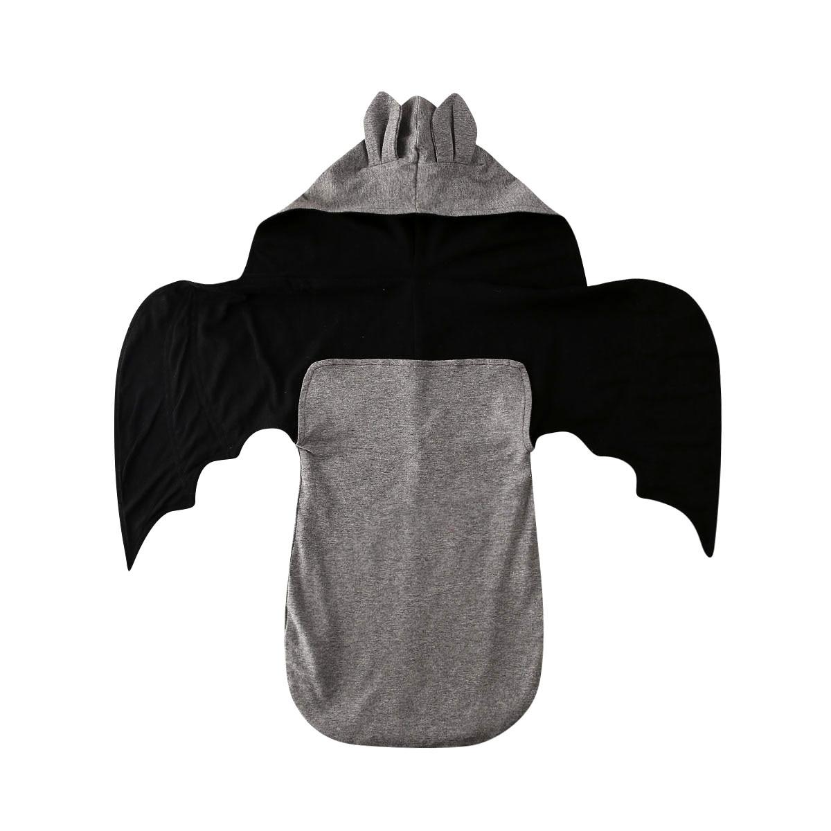 3D Wing Bat Design Sleeping Bags For Newborn Baby Winter Warm Infant Button Swaddle Stroller Wrap Kids Blanket Sleeping Bags