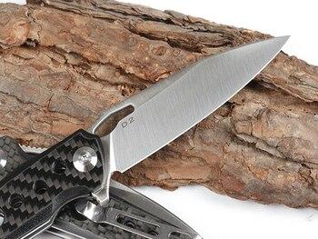 KESIWO folding knife D2 blade pocket camping hunting survival knives flipper carbon fiber tactical kitchen outdoor gift EDC tool 5