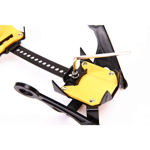 Image 4 - 10 歯屋外クライミング滑り止めアイゼン調節可能な冬の散歩アイス登山スノーシューマンガン鋼スリップ靴カバー