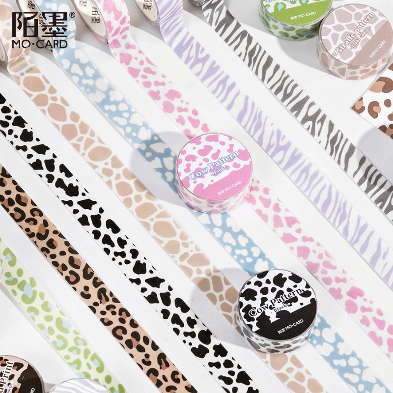 There is an animal series Masking Washi Tape Cow stripes Decorative Adhesive Tape Diy Scrapbooking Sticker Label Stationery