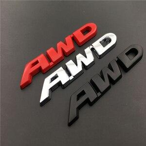 Pegatinas 3D con diseño de placa de Metal para el logotipo AWD, calcomanías con emblema de coche, decoración para Ferrari, Volvo, Mazda, Lexus, Subaru, Renault, Audi