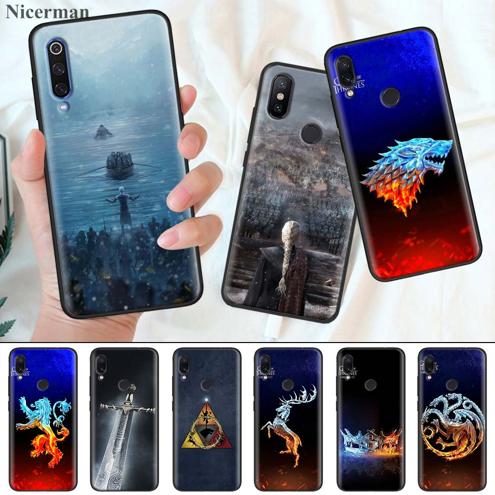 Silicone Coque Cover for Redmi 7 7A 6 6A K20 K30 5G Pro Note 8 7 7S 6 Case Game Of Throne Phone Shell image