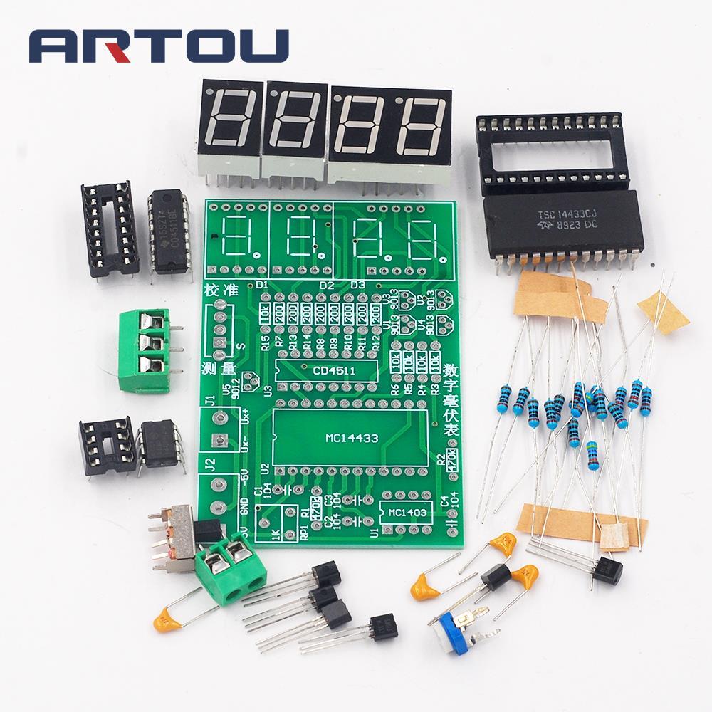 Digital millivoltmeter production kit / electronic production DIY kit (parts)