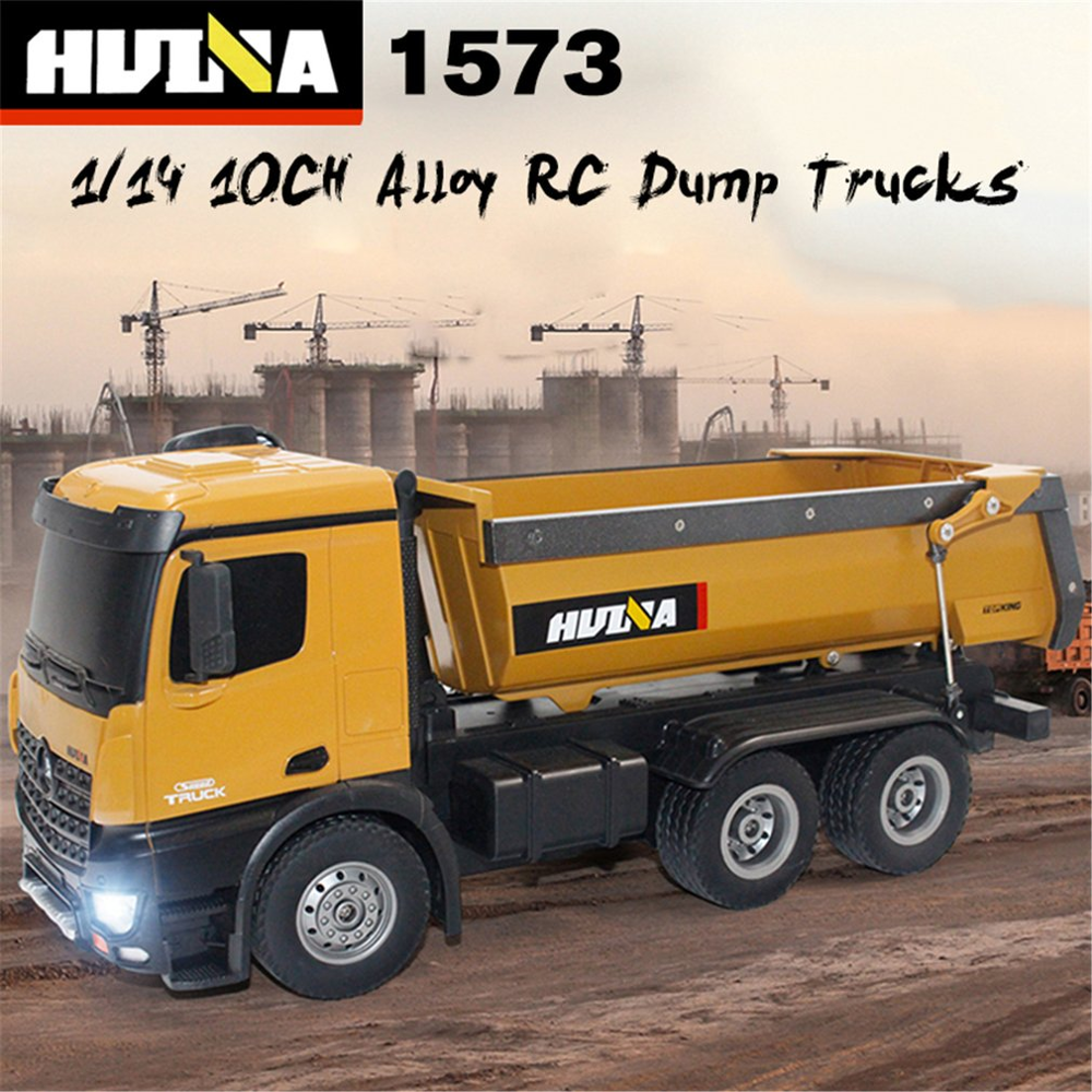 HUINA TOYS 1573 1/14 10CH Alloy RC Dump Trucks Engineering Construction Car Remote Control Vehicle Toy RTR|RC Trucks| - AliExpress