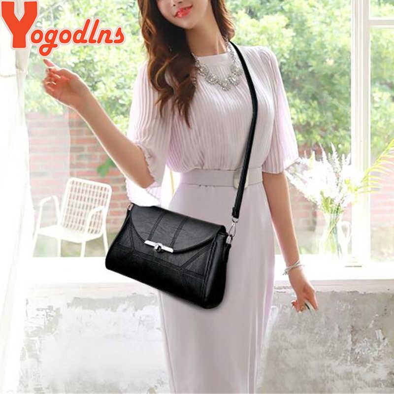 Yogodlns prosty projektant kobiet torba na ramię modna torebka i torebka torby na ramię ze skóry PU dla kobiet 2020 nowy czarny i Winered