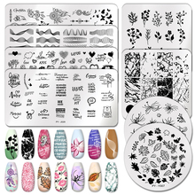 Stencil-Tools Templates Leaf-Stamp Flower Nail-Art Pict You Geometric-Printing Design