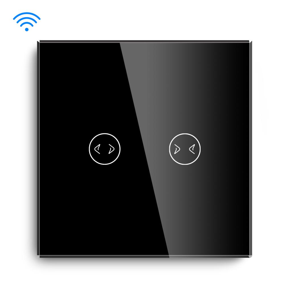 Image 2 - BSEED Wifi  Smart Curtains Switch Wireless Wifi Switch White Black Golden Colors Support For Tuya Google Assistant-in Switches from Lights & Lighting