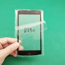 2 pcsreplacement lcd frente de vidro da tela toque lente exterior para lg l fino f60 d392 d290 d290n d295 d390 ms395