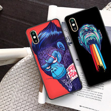 Fashion cool monkey boss phone case for iphone 11 Pro 8 7 6 6S Plus X XS MAX XR 5S Soft TPU Shell protective skin Cover coque(China)