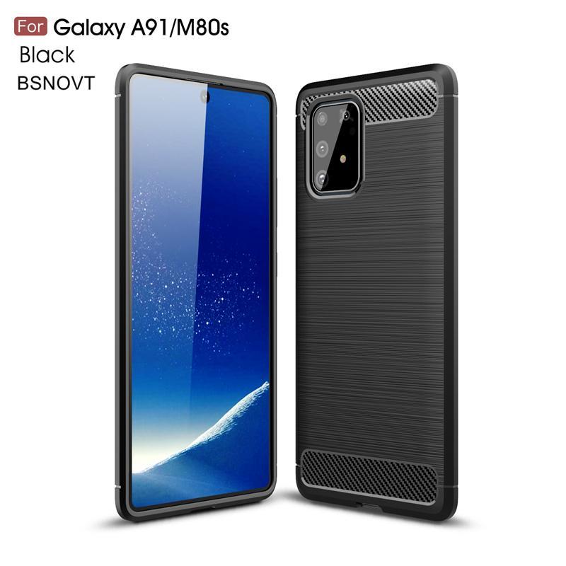 Carbon Fiber Cases For Samsung Galaxy A91 A81 A71 A51 A21 A70 A50 A40 A30 A20 A10 M30S M60S M80S Case Soft Silicone Back Cover