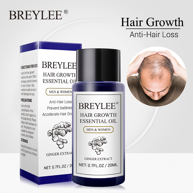 BREYLEE Hair Growth Essential Oil 20ml Fast Powerful Hair Products Hair Care Prevent Baldness Anti-Hair Loss Serum Nourishing