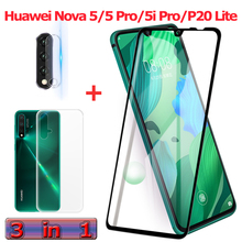 3-in-1 Tempered Glass for Huawei Nova 5 i Pro Camera 5i P20 Lite Screen Protector