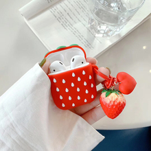 Strawberry Wireless Bluetooth Earphone Case For Apple AirPods Silicone Headphones Cases Airpods 2 Protective Cover